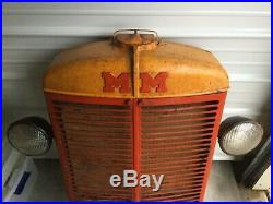 Antique Minneapolis Moline Farm Tractor Grille WithHeadlights
