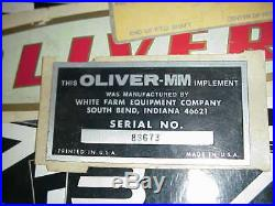 Decal decals MINNEAPOLIS MOLINE WHITE OLIVER tractor 40 plus