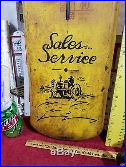 Minneapolis Moline Tractor Advertising Thermometer Metal Farm Implements Sign