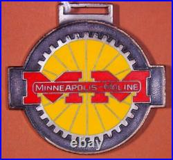 Minneapolis Moline Tractors Red & Yellow Porcelain Watch Fob X3