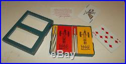 RARE Vtg 1940s Minneapolis Moline Tractor Dbl Deck Playing Cards Dealer Gift