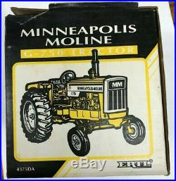 Rare (wide Front End) Minneapolis Moline G-750 Toy Tractor, Ertl 1/16 Scale, Mib