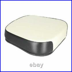 Seat Cushion Steel Core Vinyl with Black Trim Compatible with Oliver White