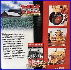 Vintage Minneapolis-Moline U Tractor with QC 2 Row Cultivator By SpecCast, NEW